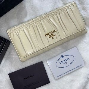 Prada wallet with box and card